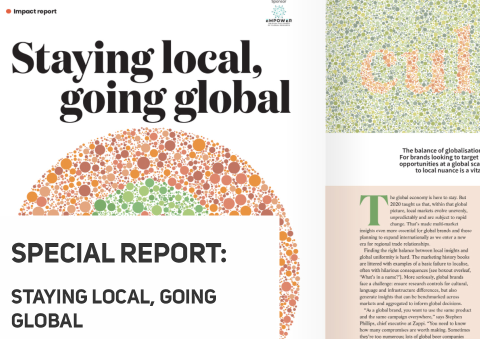 Staying local, going global